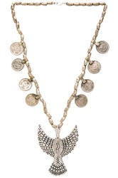 Torchlight Alulquoy Statement Necklace Metallic Silver