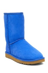 Ugg Classic Short Genuine Sheepskin Lined Boot Blue