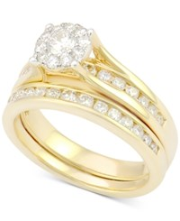 Macy's Diamond Channel Set Bridal Set 1 Ct. T.W. In 14K Gold Yellow Gold