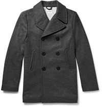 Club Monaco Double Breasted Wool Blend Peacoat Gray