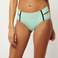 River Island Womens Light Green Double Strap Bikini Bottoms