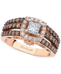 Le Vian Chocolatier Diamond Bridal Set 1 3 4 Ct. T.W. In 14K Rose And White Gold White Rose Gold