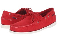 Sebago Canvas Dockside Red Canvas Men's Shoes