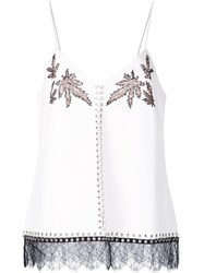 Alexander Wang Lace Leaf Camisole White