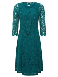 Eastex Lace 2 In 1 Dress Turquoise