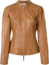Desa 1972 Fitted Zip Jacket Nude And Neutrals