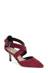 Women's Sole Society 'Tamra' Pointy Toe Pump Burgundy Suede