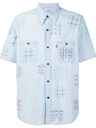 Levi's Vintage Clothing 'Noughts And Crosses' Shirt Blue
