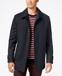 Kenneth Cole New York Wool Blend Car Coat Charcoal