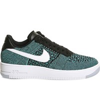 Nike Air Force 1 Flyknit Trainers Jade Black Turquoise