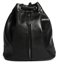 Asos Duffle Backpack With Front Zip Black