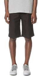 Our Legacy Relaxed Cotton Linen Shorts Black Washed