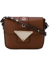 Sara Battaglia 'Lucy Cara' Cross Body Bag Brown