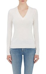 Barneys New York Women's V Neck Sweater Ivory