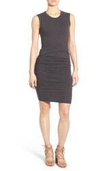 Women's James Perse Ruched Tank Dress Carbon