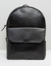 Royal Republiq Leather Backpack In Black Black