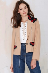 Nasty Gal Vintage Todd Oldham Roped In Embroidered Blazer