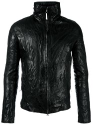 Isaac Sellam Experience Zipped Leather Jacket Black