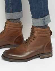 Asos Lace Up Boots In Brown Brown