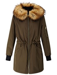 Miss Selfridge Parka Coat Khaki