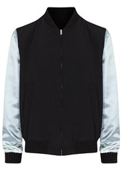 Gucci Black Reversible Wool And Silk Bomber Jacket