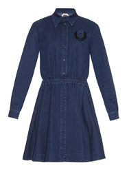 N 21 Point Collar Stretch Denim Dress