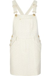 Moschino Boucle Tweed Mini Dress White