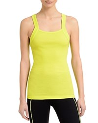 2Xist 2 X Ist Square Neck Ribbed Tank Safety Yellow