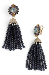 Marchesa Women's Regal Affair Tassel Drop Earrings