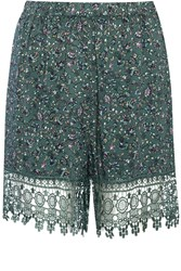 Alice And You Lightweight Printed Shorts Green