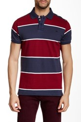 Micros Regular Fit Short Sleeve Polo Red