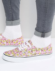 Vans X Nintendo Authentic Trainers In Orange With Princess Peach Print V4mljp8 Orange