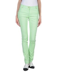 Class Roberto Cavalli Denim Denim Trousers Women Light Green
