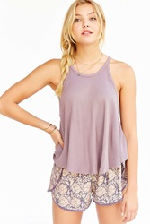 Truly Madly Deeply High Neck Swingy Tank Top Taupe