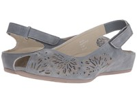 Earth Milos Dusty Blue Soft Buck Women's Sandals Gray