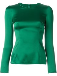 Dolce And Gabbana Fitted Blouse Green