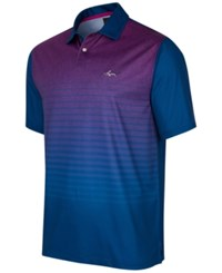 Greg Norman For Tasso Elba Men's Heather Ombre Stripe Performance Polo Only At Macy's Blue Socket