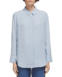 Whistles Alice Linen Shirt Blue