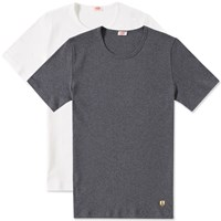 Armor Lux Basic Tee 2 Pack White