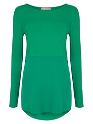 Phase Eight Sophia Split Hem Top Green