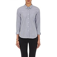 Steven Alan Women's Striped Poplin Shirt White Blue White Blue