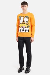Jeremy Scott Orange Face Sweater Fantasy Print Orange