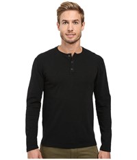 Agave Ryan Long Sleeve Slub Black Men's Long Sleeve Pullover