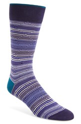 Bugatchi Men's Diamond Stripe Socks Mauve