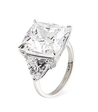 Carat Cushion Cut Trilogy Ring Female