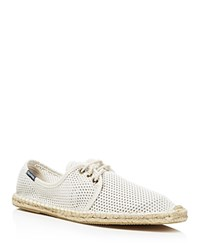 Soludos Derby Lace Up Mesh Espadrille Sneakers White