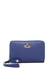 Vivienne Westwood Leather Zip Wallet With Mobile Phone Holder Blue
