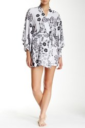 Josie Lovely Roses Robe Black