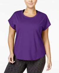 Ideology Plus Size Mesh Back T Shirt Only At Macy's Push It Purple