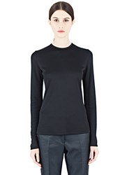 Paco Rabanne Long Sleeved Cut Out Top Black